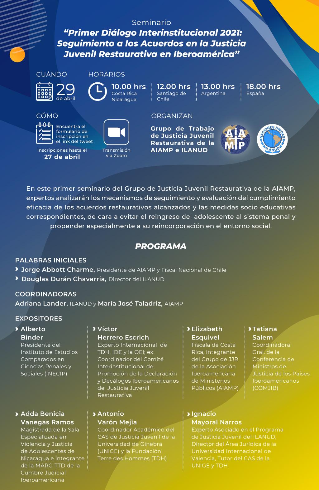 Primer Diálogo Interinstitucional 2021 sobre