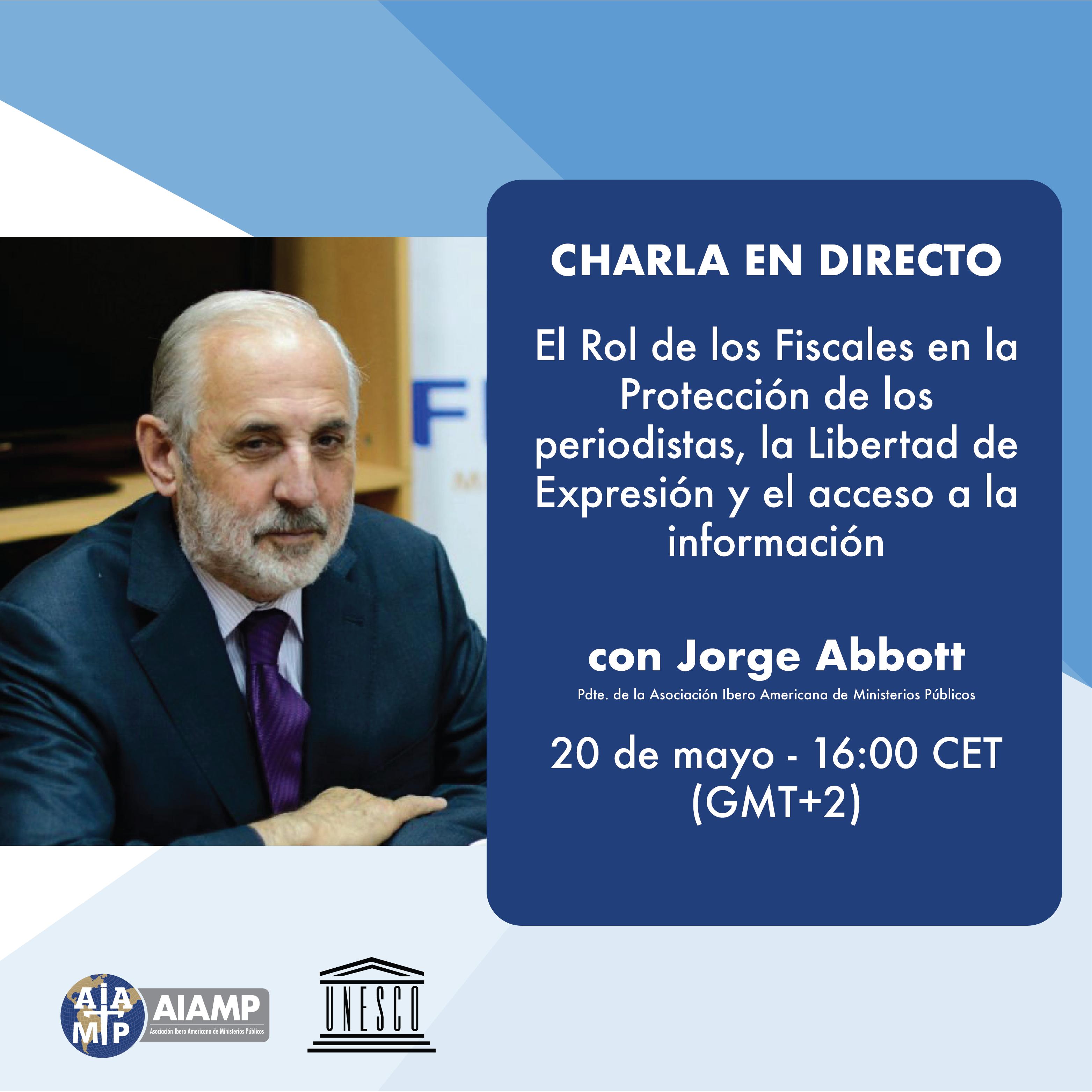Participación Presidente de la AIAMP en charla organizada por UNESCO