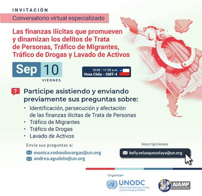 I conversatorio AIAMP-UNODC, 17 septiembre 2021