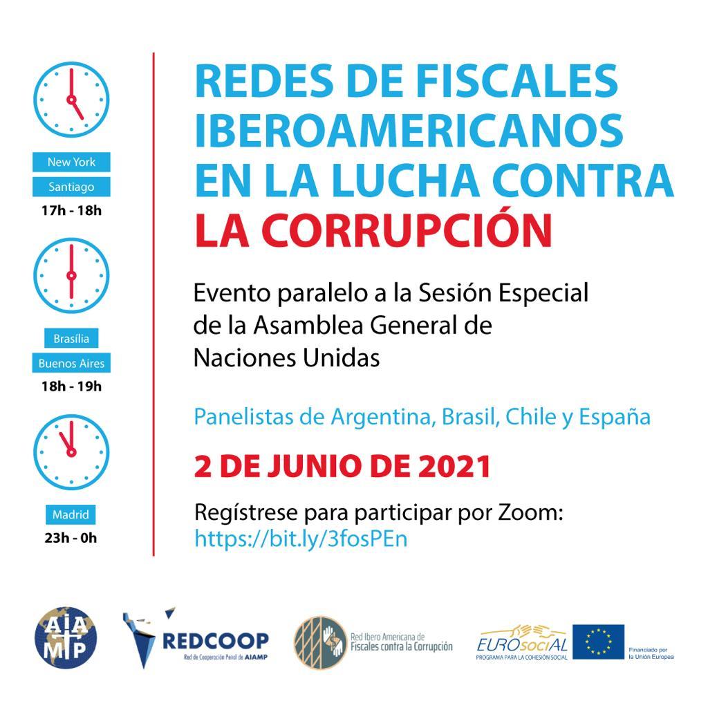 Evento paralelo Sesión especial ONU contra la corrupción, 2 junio 2021