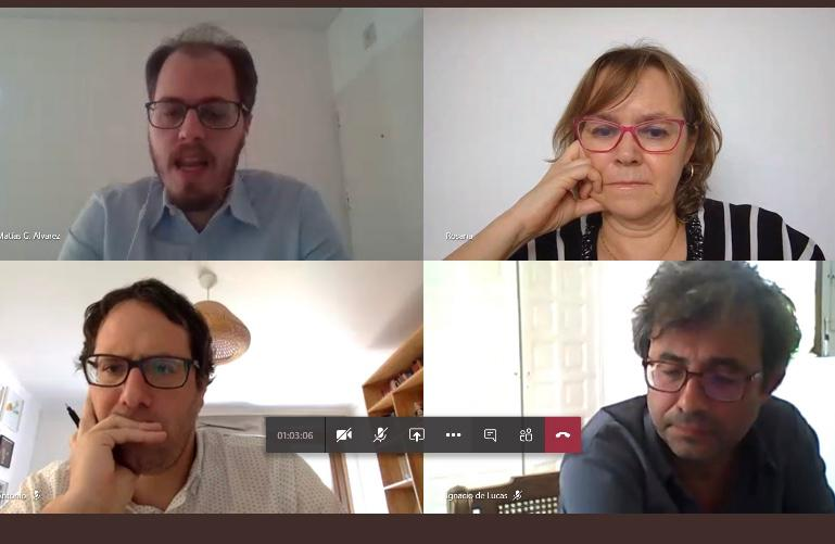 Reunión virtual coordinadores Redes Permanentes y Grupos de Trabajo
